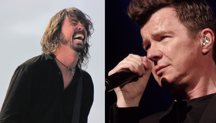 Dave Grohl plays surprise set with Rick Astley in London
