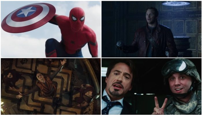 Can you identify the Marvel movie from a single screenshot?
