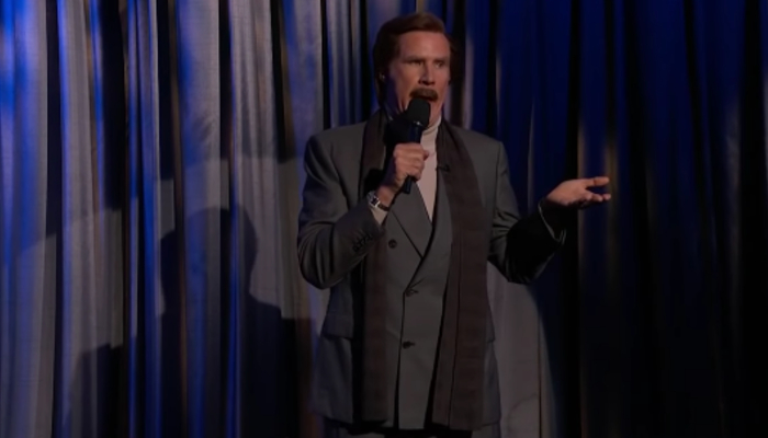 Ron Burgundy appeared on six different late-night shows in one evening