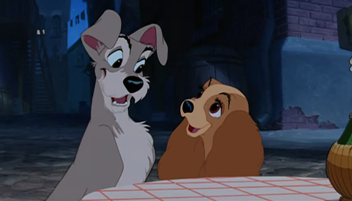 Lady And The Tramp Live Action Remake Poster Highlights A Classic Scene