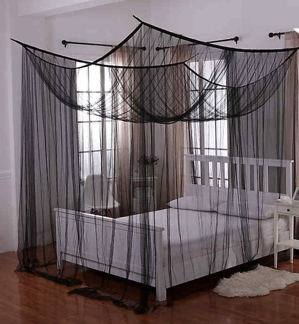 goth decor canopy