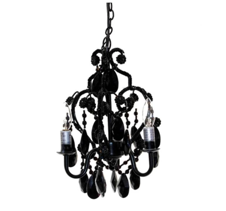 goth decor chandelier