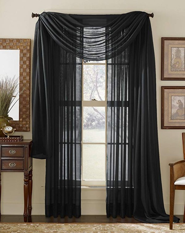 goth decor curtains