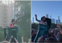 Lollapalooza, trash can