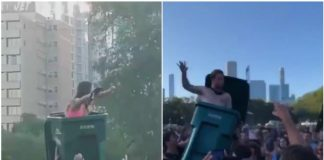 Lollapalooza, trash can