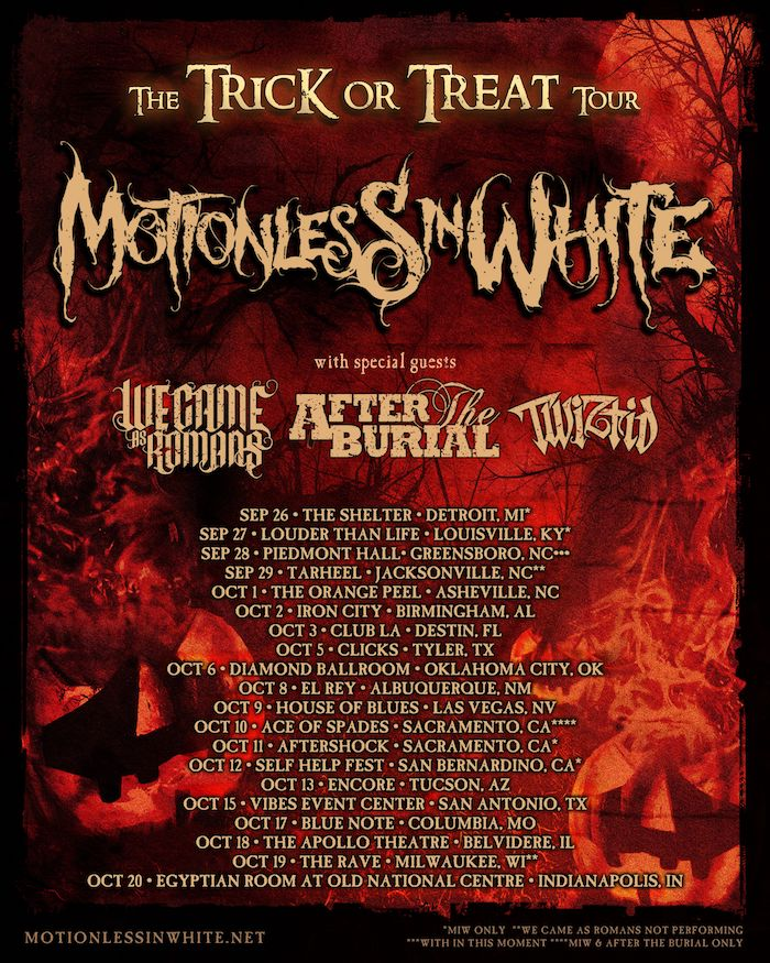 motionless in white tour poster