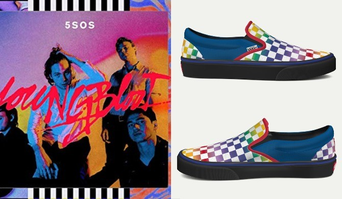 5 seconds of summer Youngblood vans customs