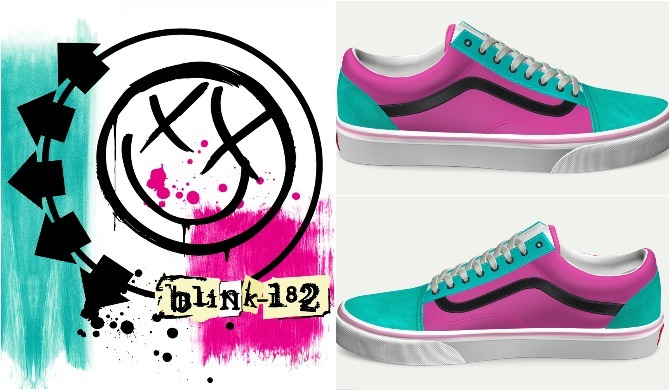 Blink-182 Self Titled vans customs