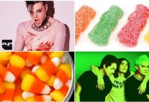 bands as halloween candy
