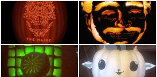 best band pumpkin carvings