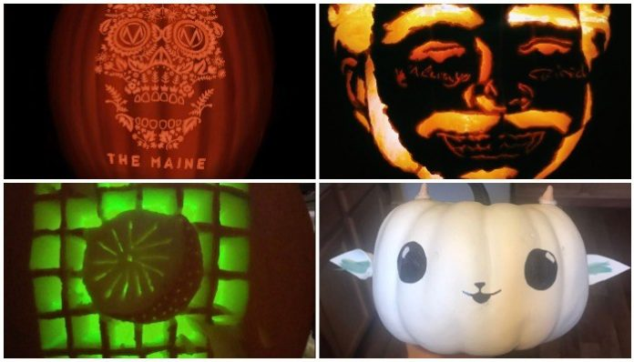 best band pumpkin carvings