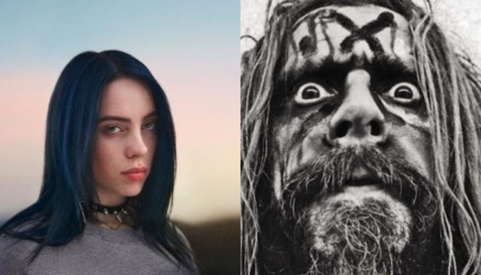 Billie Eilish gets props from Rob Zombie, more for custom metal band shirt