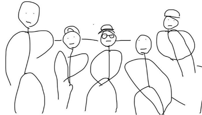 Can you guess the band from this terribly drawn fan art?