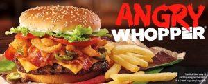 burger king fast food menu items
