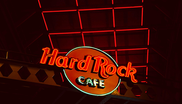 Hard Rock opens 450-foot neon guitar-shaped hotel