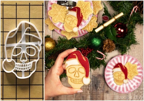 skull cookies christmas decorations