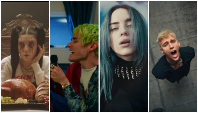 tiktok, billie eilish, deatybyromy, mgk, waterparks