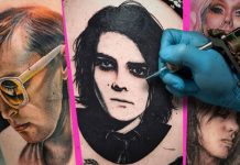 musician portrait tattoos