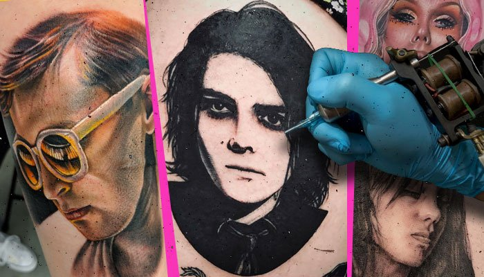 10 musician portrait tattoos that look like the real thing