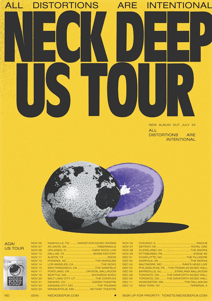 neck deep 2020 us tour