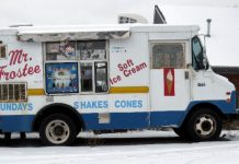 Metal Ice Cream Truck
