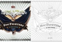 foo fighters sony music coloring book page