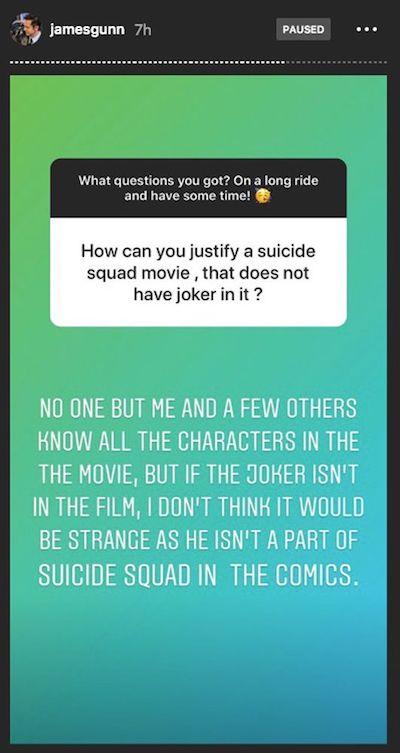James Gunn Suicide Squad Joker