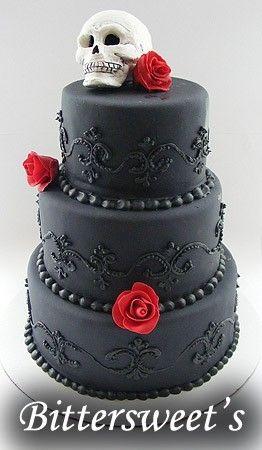 black skull cake