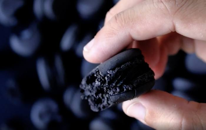 black truffle macaroons goth baking recipes