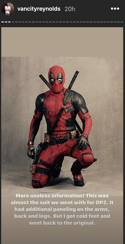 ryan reynolds instagram deadpool costume-min