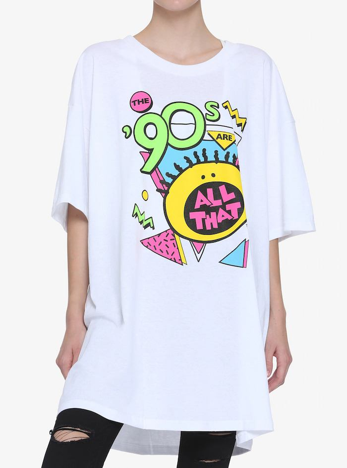 The '90s Are All That logo oversized girls T-shirt