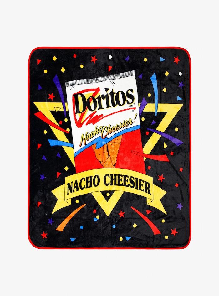 Doritos retro Nacho Cheesier throw blanket