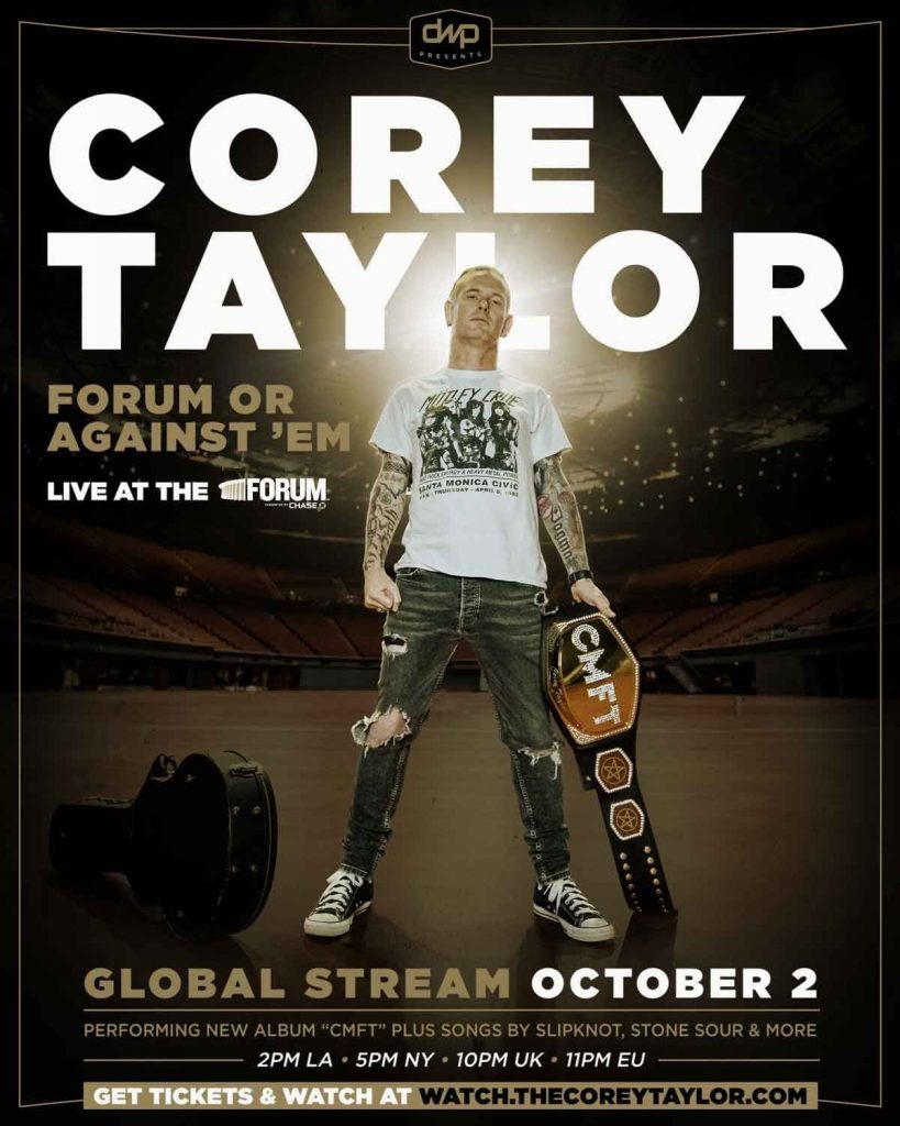 Corey Taylor Forum Or Against 'Em CMFT livestream