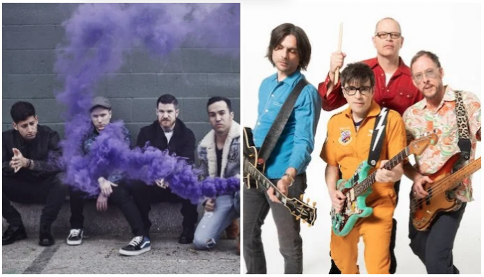 weezer, fall out boy