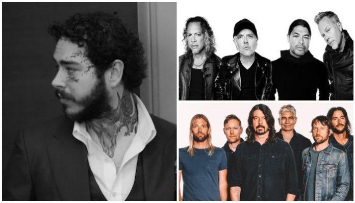 Post Malone Metallica Foo Fighters
