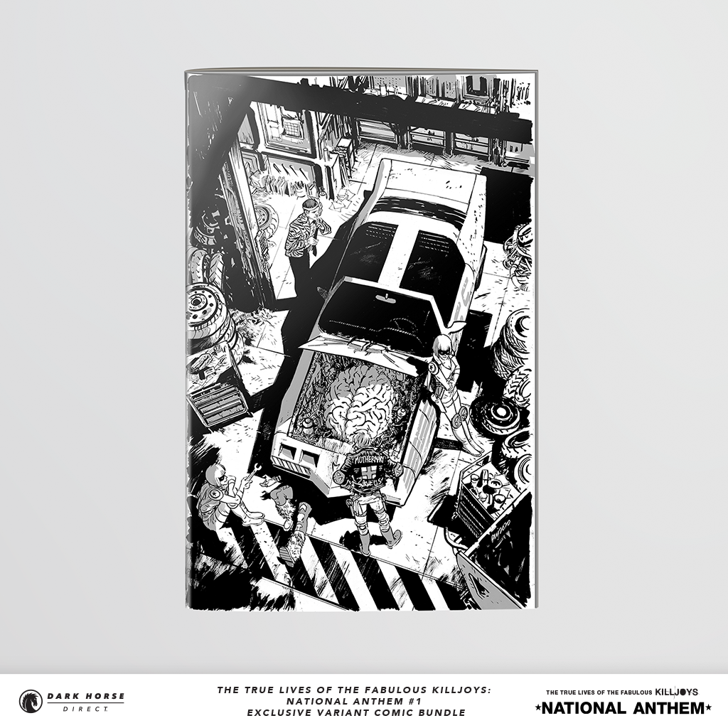 the true lives of the fabulous killjoys: national anthem black and white variant issue 1