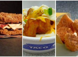 fast food menu items