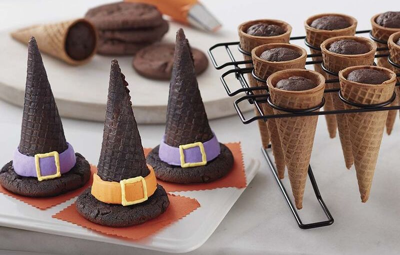 witch ice cream cone hats