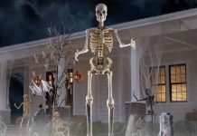 home depot skeleton halloween memes 2020