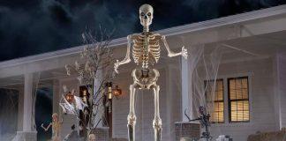 home depot skeleton halloween memes 2020