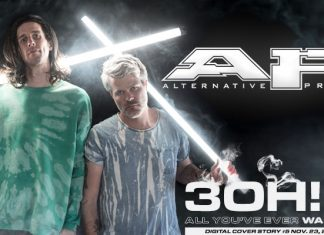 3OH!3 digital magazine cover story 3oh3 lonely machine