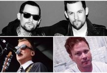 Joel and Benji Madden Matt Skiba blink-182 Tom Delonge