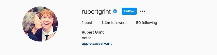 Rupert Grint Maggie Smith-min
