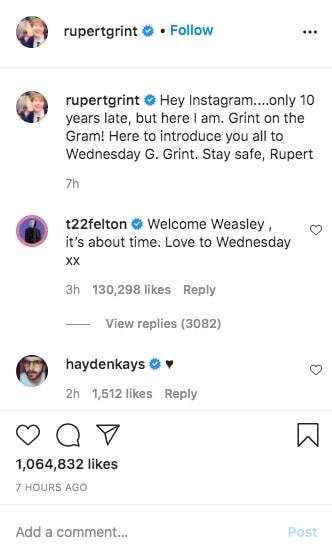 Tom Felton Rupert Grint Instagram-min