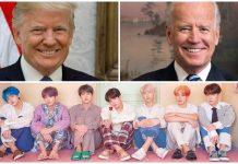 Donald Trump Joe Biden hashtag K-pop fans