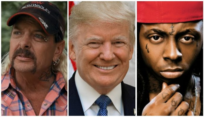 Donald Trump Joe Exotic Lil Wayne
