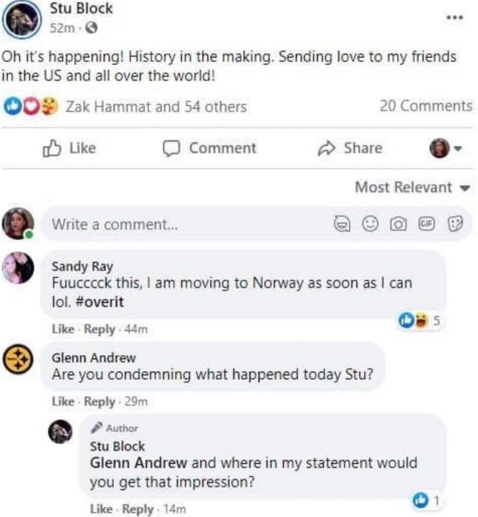 Iced Earth Stu Block Facebook