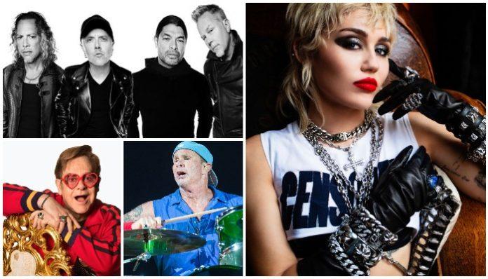 Miley Cyrus Metallica Elton John Chad Smith
