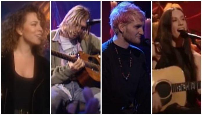 1990s 'MTV Unplugged' performances 90s live sets acoustic
