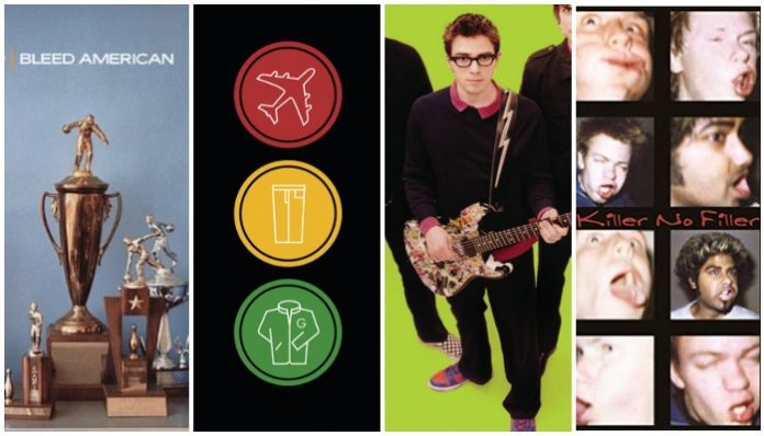 best pop punk albums 2001, jimmy eat world, blink 182, weezer, sum 41